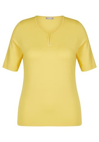 Rabe T - Shirt mit unifarbigem Design und Ziersteinen kaufen