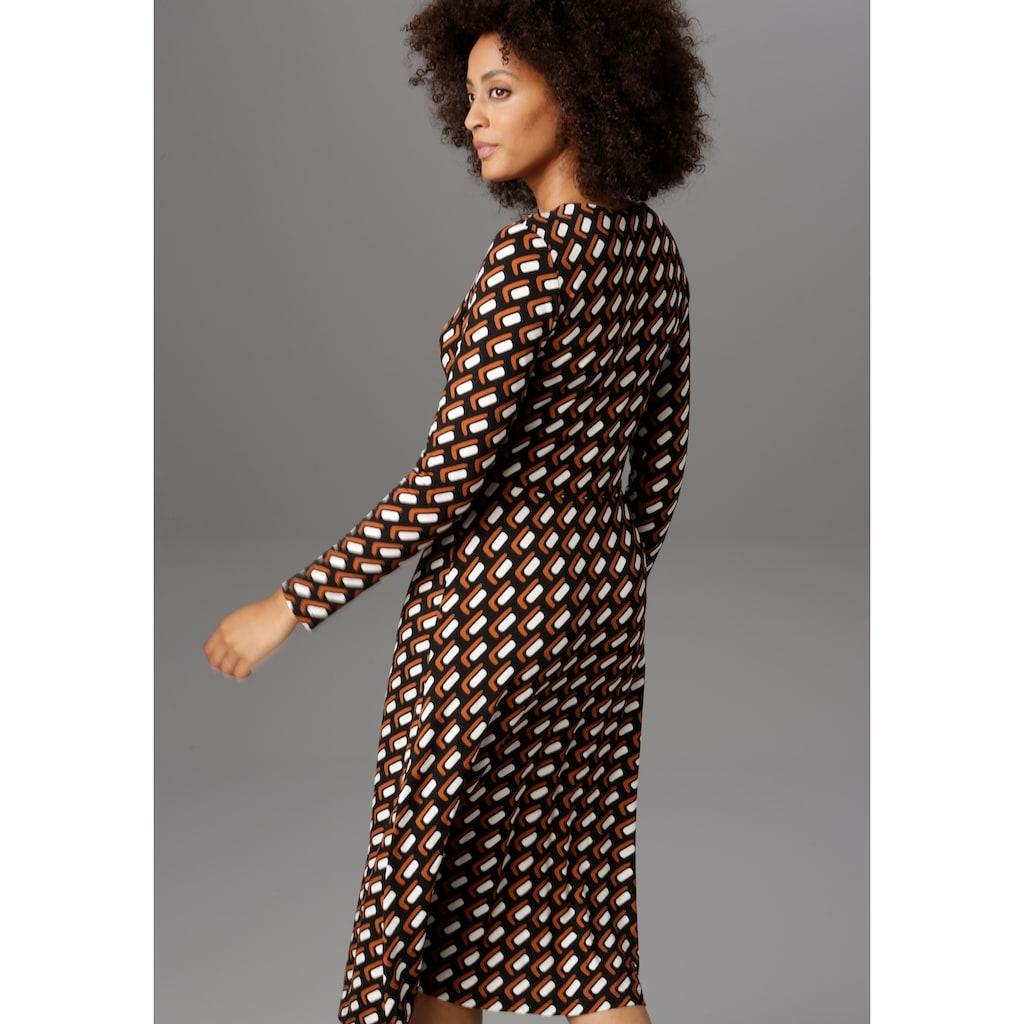 Aniston SELECTED Jerseykleid, mit Knopfleiste