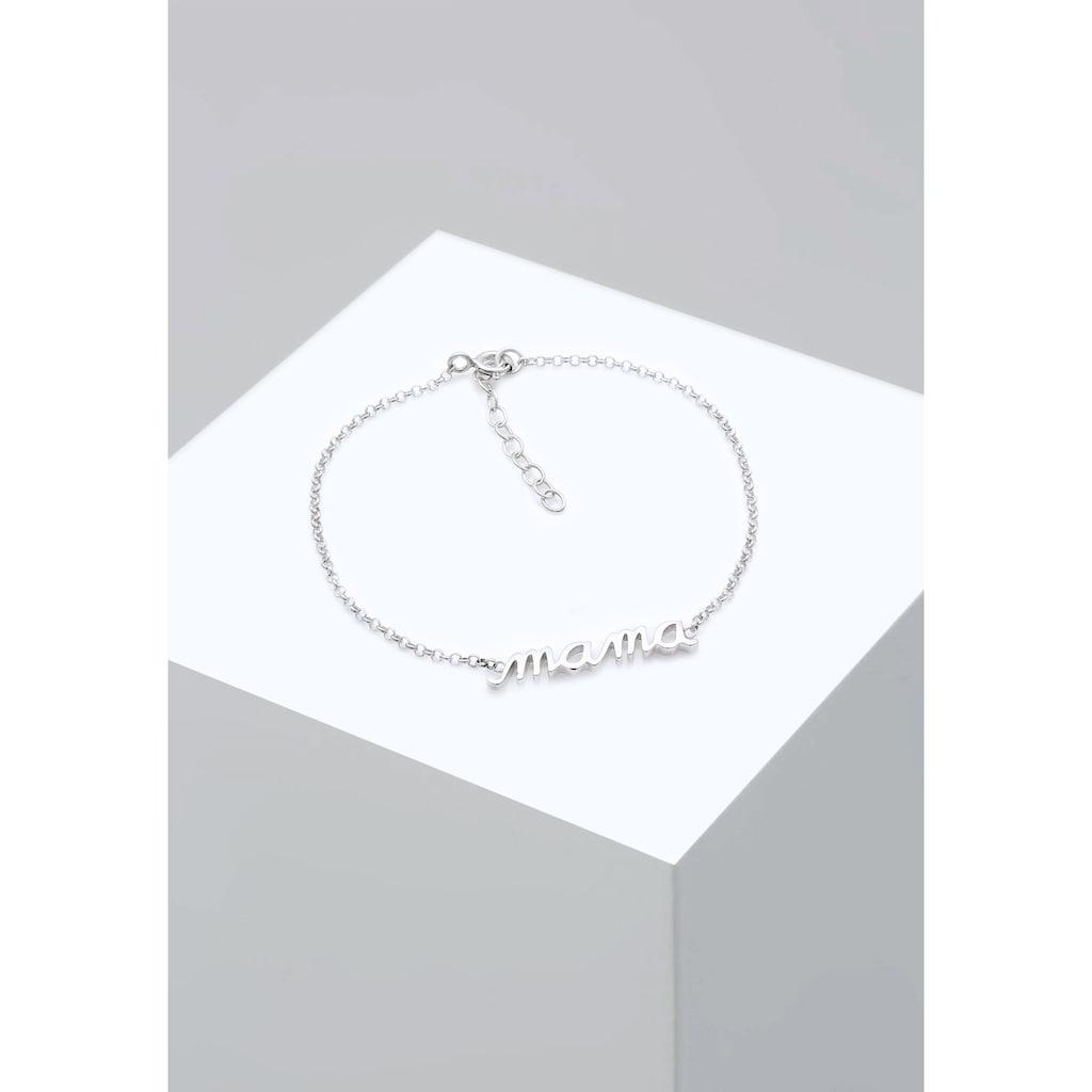 Elli Armband »Mama Schriftzug Wording Muttertag Liebe 925 Silber«