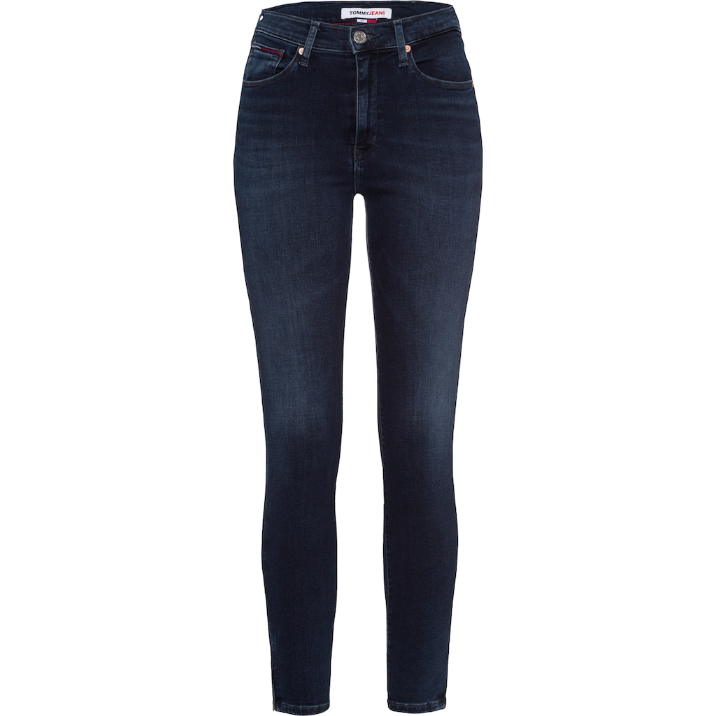 Tommy Jeans Skinny-fit-Jeans »SYLVIA HR S SKN ANKLE BE134 MBST«, mit leicht ausgefranstem Saum