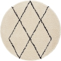 andas Hochflor-Teppich »Lene«, rund, 35 mm Höhe, weicher Flor, Wohnzimmer