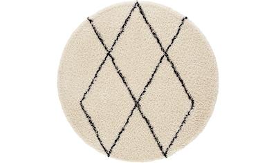 andas Hochflor-Teppich »Lene«, rund, 35 mm Höhe, weicher Flor, Wohnzimmer kaufen