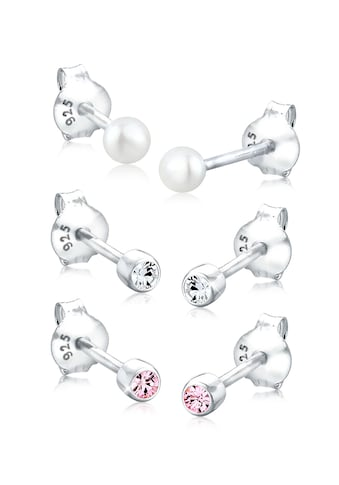 Elli Ohrring-Set »Kugel Perle Set Kristalle 925 Silber« kaufen