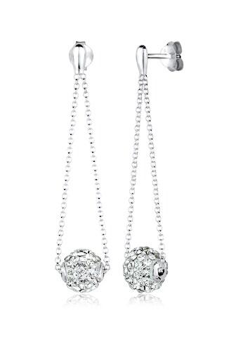 Elli Paar Ohrhänger »Geo Kugel Festlich Kristalle Silber« kaufen