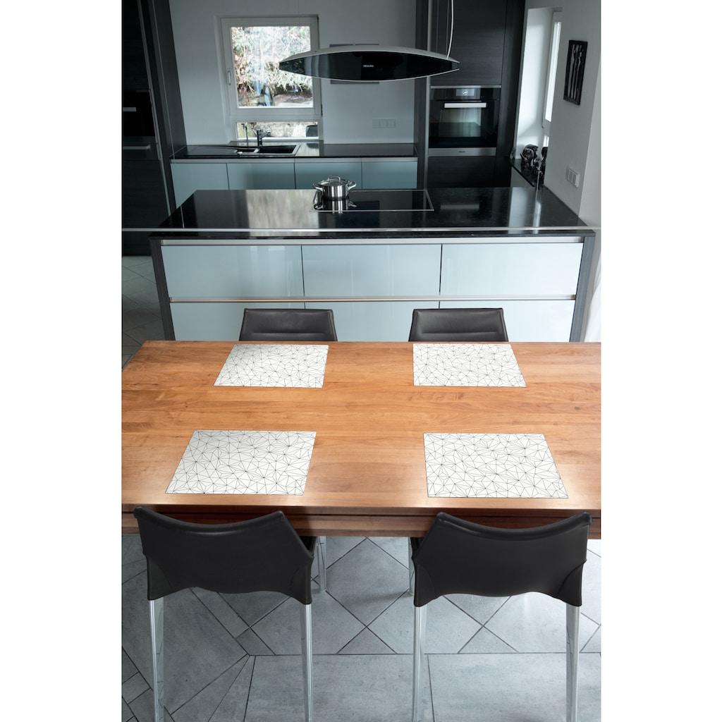 Contento Platzset »Matteo«, (Set, 4 St.), für den Innen- und Außenbereich, wasserabweisend, graphisches Dekor, 30x40 cm
