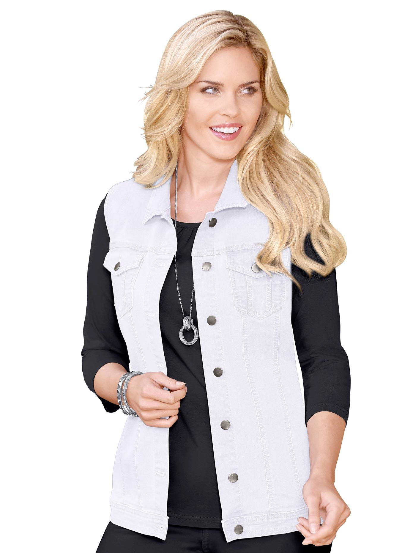 Classic Basics Jeans-Weste mit Hemdkragen | Bekleidung > Westen > Jeanswesten | Classic Basics
