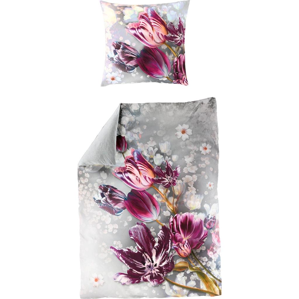 BIERBAUM Wendebettwäsche »Tuli«, mit Tulpen