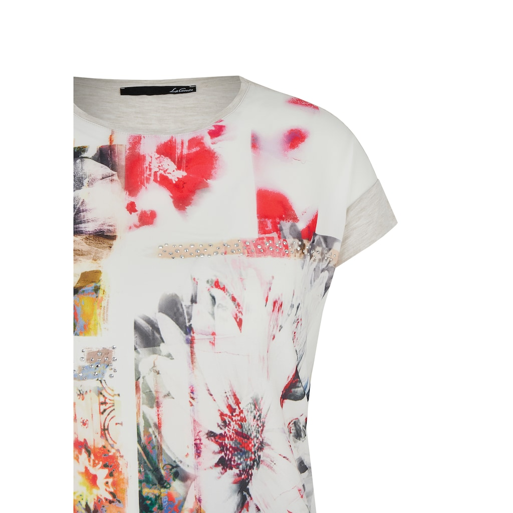 LeComte Shirt mit Front-Print und Ziersteinen