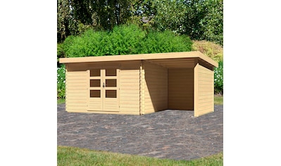 KONIFERA Set: Gartenhaus »Schloßsee 7«, BxT: 575x333 cm, mit Anbau inkl. Seiten -  und Rückwand kaufen