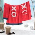 Seahorse Strandtuch »XO«, (1 St.), mit modernem Druck