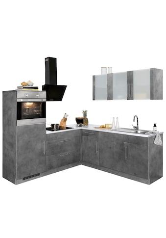 wiho Küchen Winkelküche »Cali«, mit E-Geräten, Stellbreite 210 x 220 cm kaufen