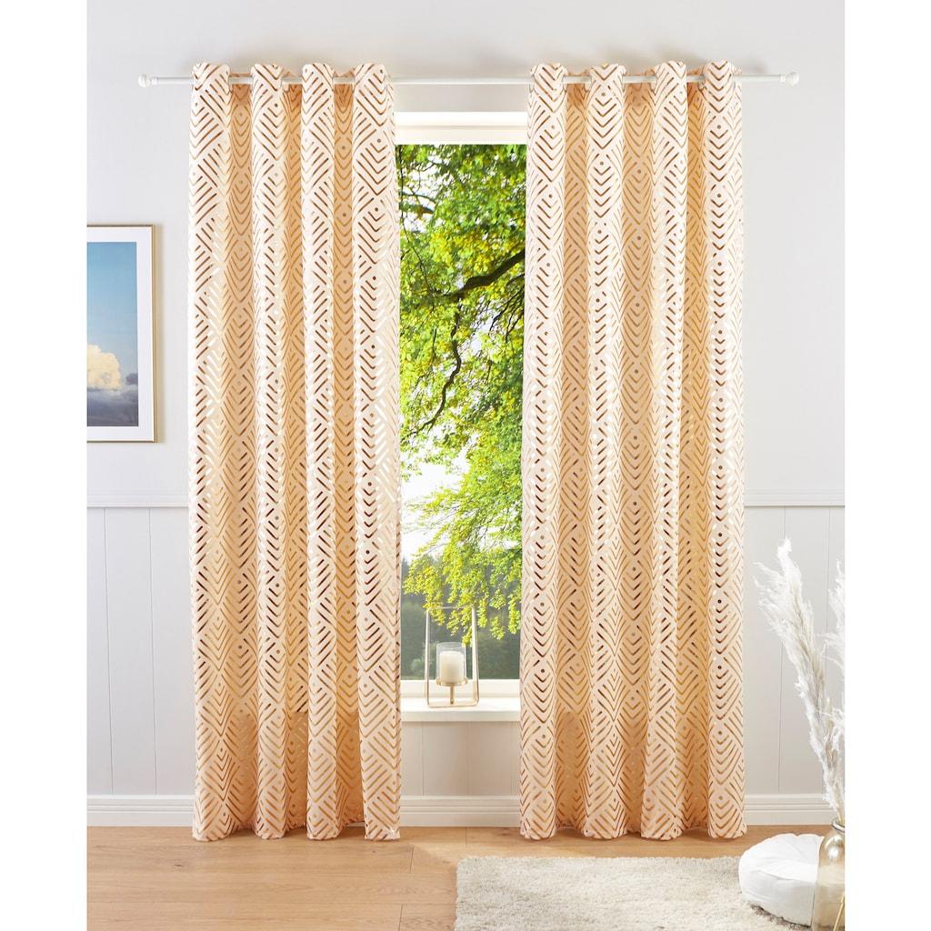 Guido Maria Kretschmer Home&Living Vorhang »Gian«, bedruckter Samt