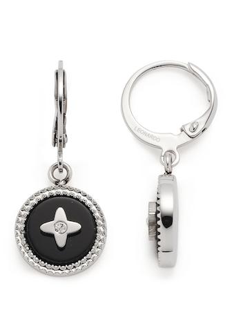 LEONARDO Paar Creolen »Ohrhänger Donna, 018301«, mit Glasstein, Onyx kaufen