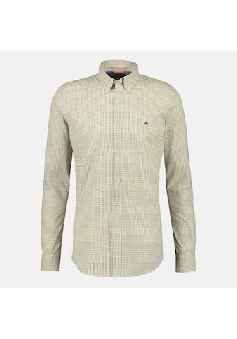 LERROS Langarmhemd, mit Minimalprint und Button-Down-Kragen kaufen