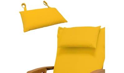 indoba Dekokissen »Premium«, 2er Set, extra dickes Kopfkissen - Gelb - IND-70440-AUKK-2 kaufen