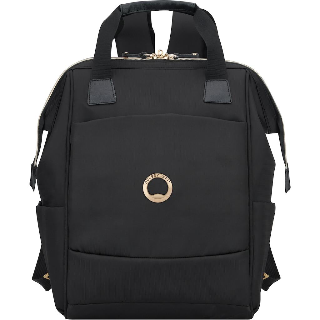 Delsey Laptoprucksack »Montrouge, black«, mit TSA-Schloss