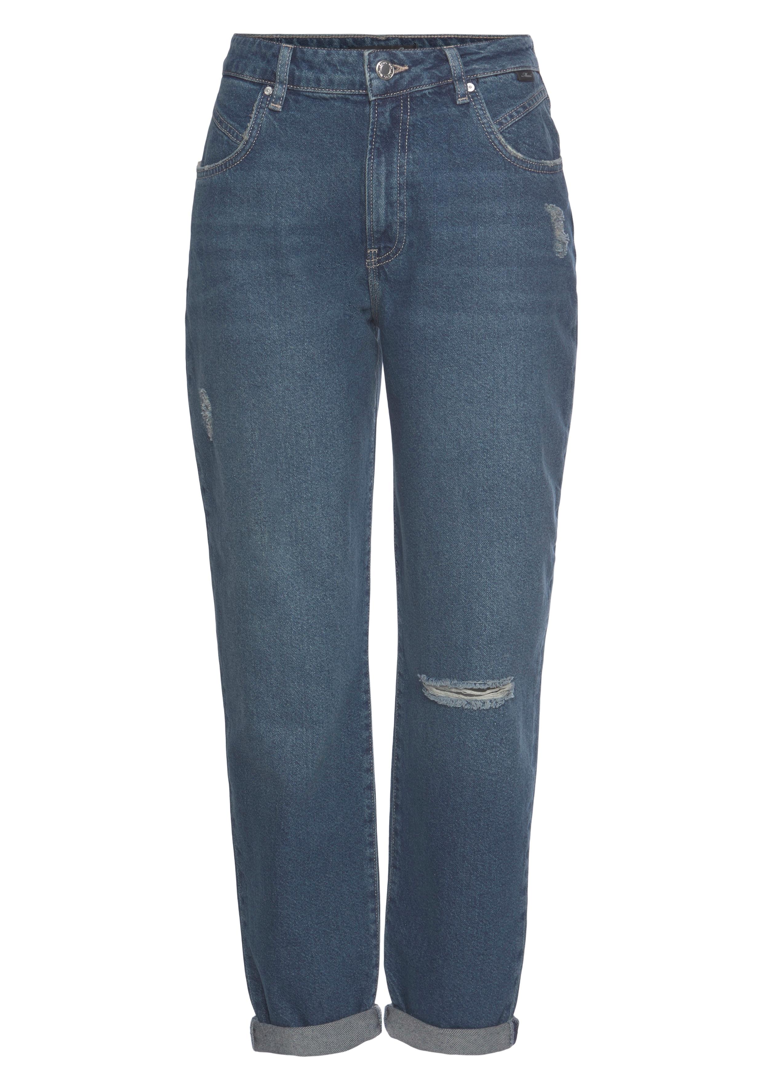 mavi -  Mom-Jeans STELLA-MA, Baumwollstretch Denim für hohen Tragekomfort