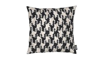 Juniqe Dekokissen »Houndstooth Pattern«, Weiches, allergikerfreundliches Material kaufen