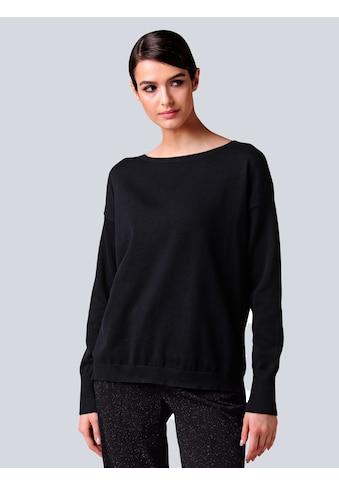 Alba Moda Rundhalspullover, aus reiner Baumwollqualität kaufen