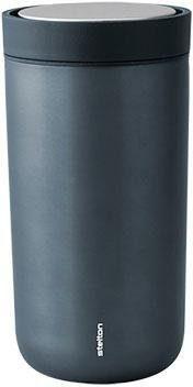 Stelton Thermobecher To Go Click, 200 ml blau und Coffee to go Geschirr, Porzellan Tischaccessoires Haushaltswaren