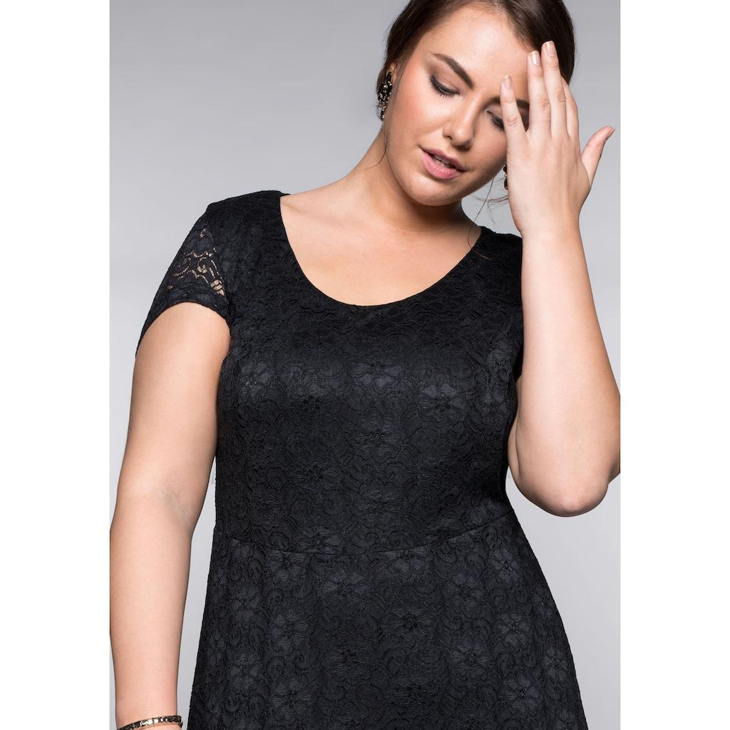 Sheego Spitzenkleid, mit Bodyforming-Effekt und Innenkleid