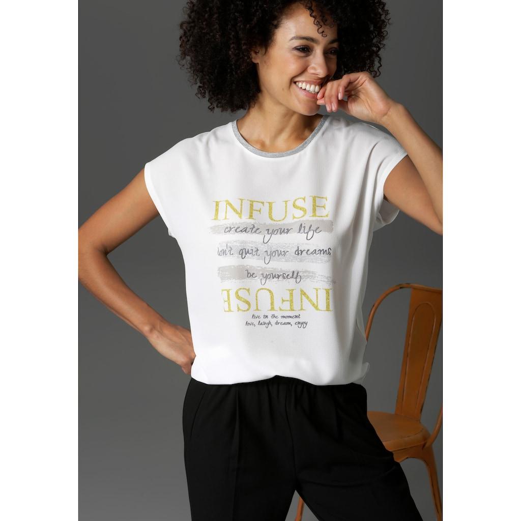 Aniston CASUAL T-Shirt, mit Schriftzug - NEUE KOLLEKTION