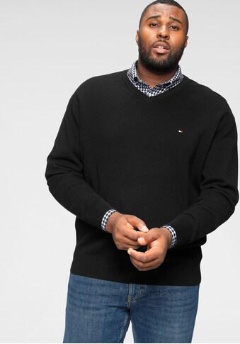 Tommy Hilfiger Big & Tall V - Ausschnitt - Pullover »Big & Tall COTTON STRUCTURED V - NK« kaufen