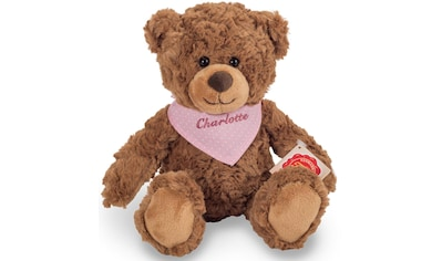 Teddy Hermann® Kuscheltier »Teddy braun mit rosa Halstuch, 30 cm«, mit individueller Bestickung kaufen