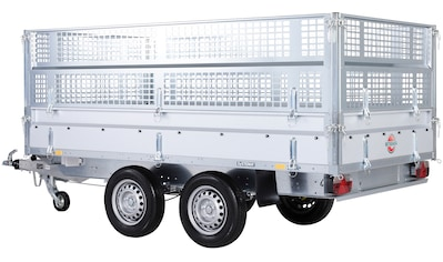 STEMA PKW - Anhänger »Rückwärtskipper 2,7 t«, Set, inkl. E - Hydraulikset und Gitteraufsatz kaufen