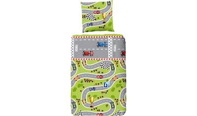 good morning Kinderbettwäsche »Circuit«, mit Rennstrecke kaufen