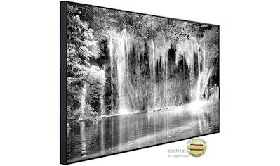 Papermoon Infrarotheizung »Wasserfall Schwarz & Weiß«, sehr angenehme Strahlungswärme kaufen