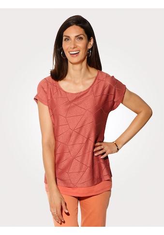 Mona Kurzarmshirt, im Lagenlook kaufen