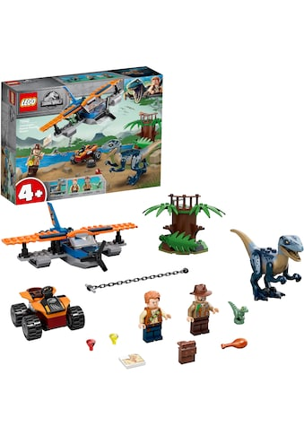 LEGO® Konstruktionsspielsteine »Velociraptor: Rettungsmission mit dem Doppeldecker (75942), LEGO® Jurassic World™«, (101 St.) kaufen