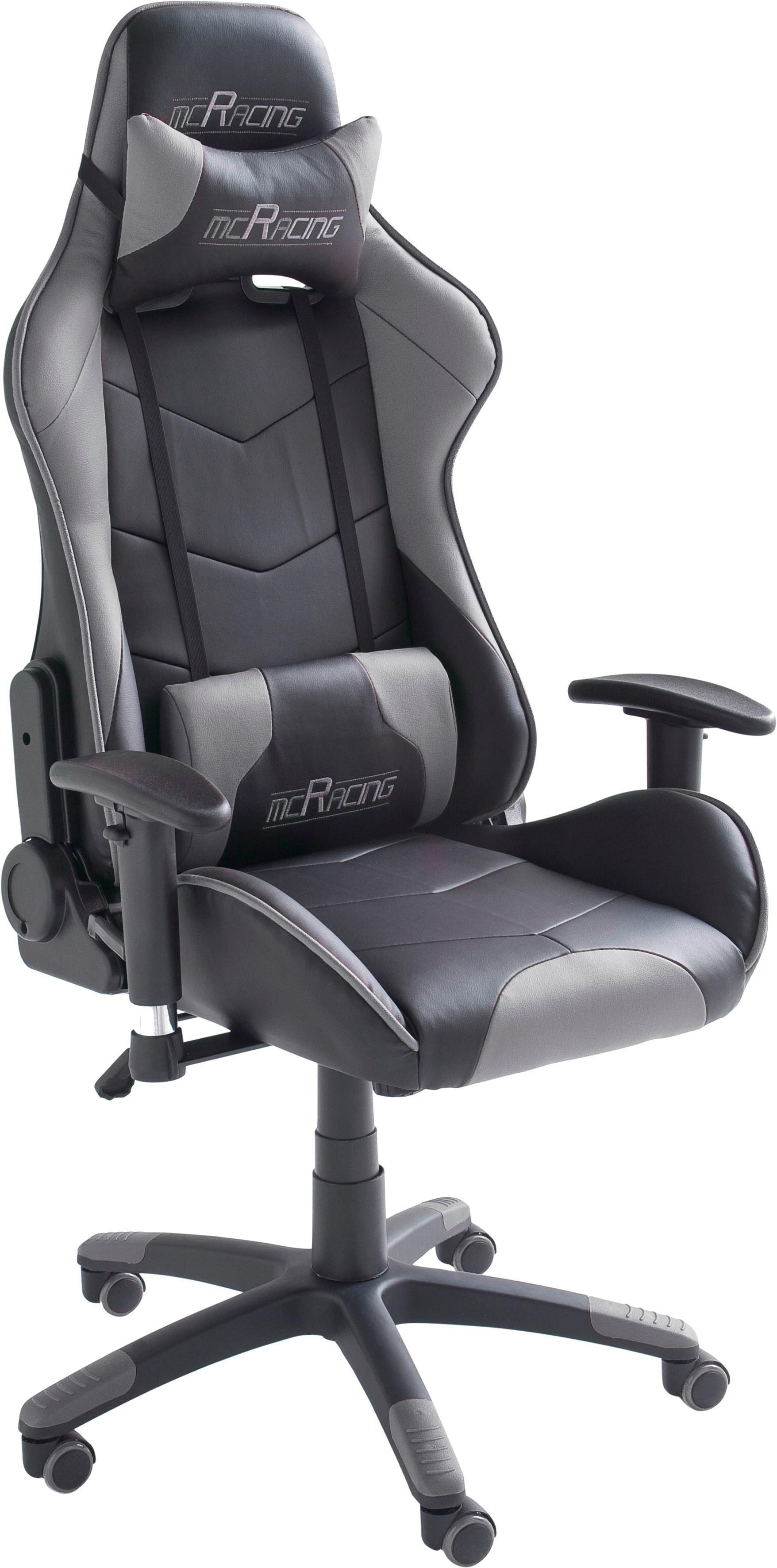 MCA furniture Gaming Chair MC Racing Gaming-Stuhl schwarz Gaming-Zubehör Gaming-Shop Stühle