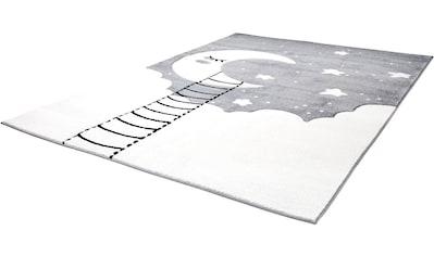 Carpet City Kinderteppich »Bueno Kids 1314«, rechteckig, 13 mm Höhe, Mond Sterne, handgearbeiteter Konturenschnitt kaufen