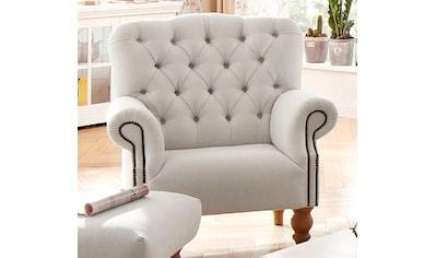 Home affaire Sessel »Lord«, mit echter Chesterfield-Knopfheftung und Ziernägeln kaufen