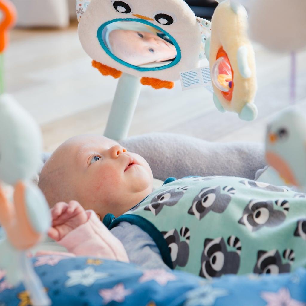 Playgro Baby Gym »Spiel- und Krabbeldecke Pinguin«, mit Seelöwen-Kissen