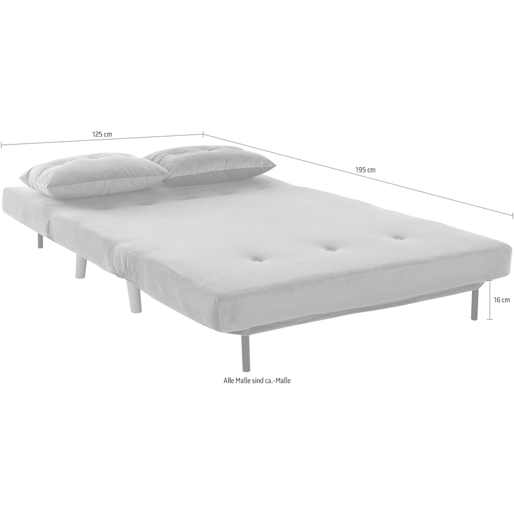 my home Daybett, mit ausziehbaren Metallstützbeinen, Schlafsessel in zwei Größen erhältlich, modernes Gästebett