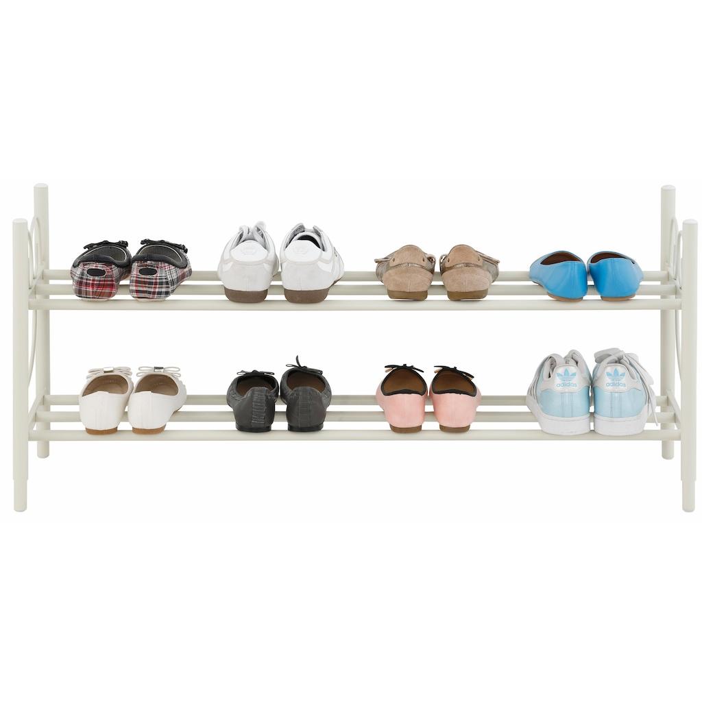 Home affaire Schuhregal »Princess«, aus einem schönen Metallgestell, Platz für 8-10 Paar Schuhe (ohne Absatz) Höhe, 40 cm