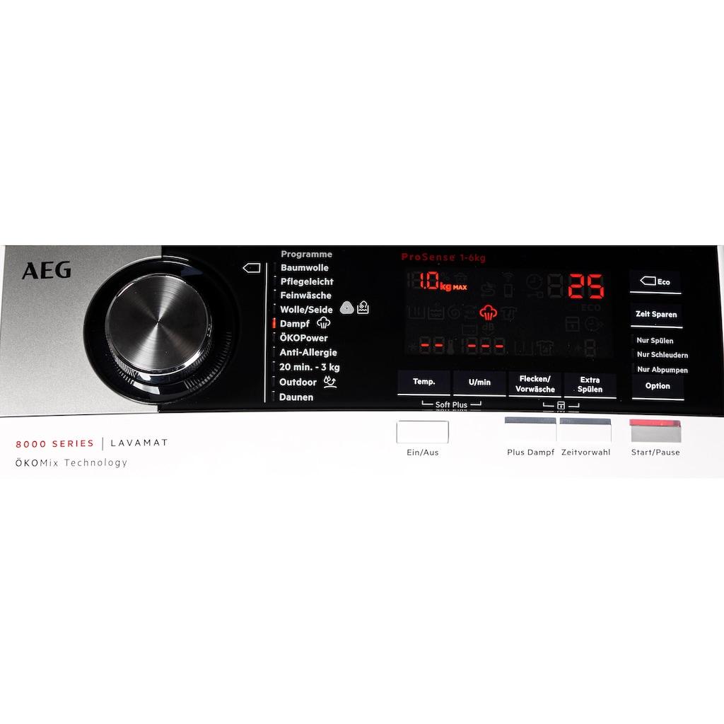 AEG Waschmaschine Toplader »L8TE84565«, L8TE84565, 6 kg, 1500 U/min, ÖKOMix - Faserschutz