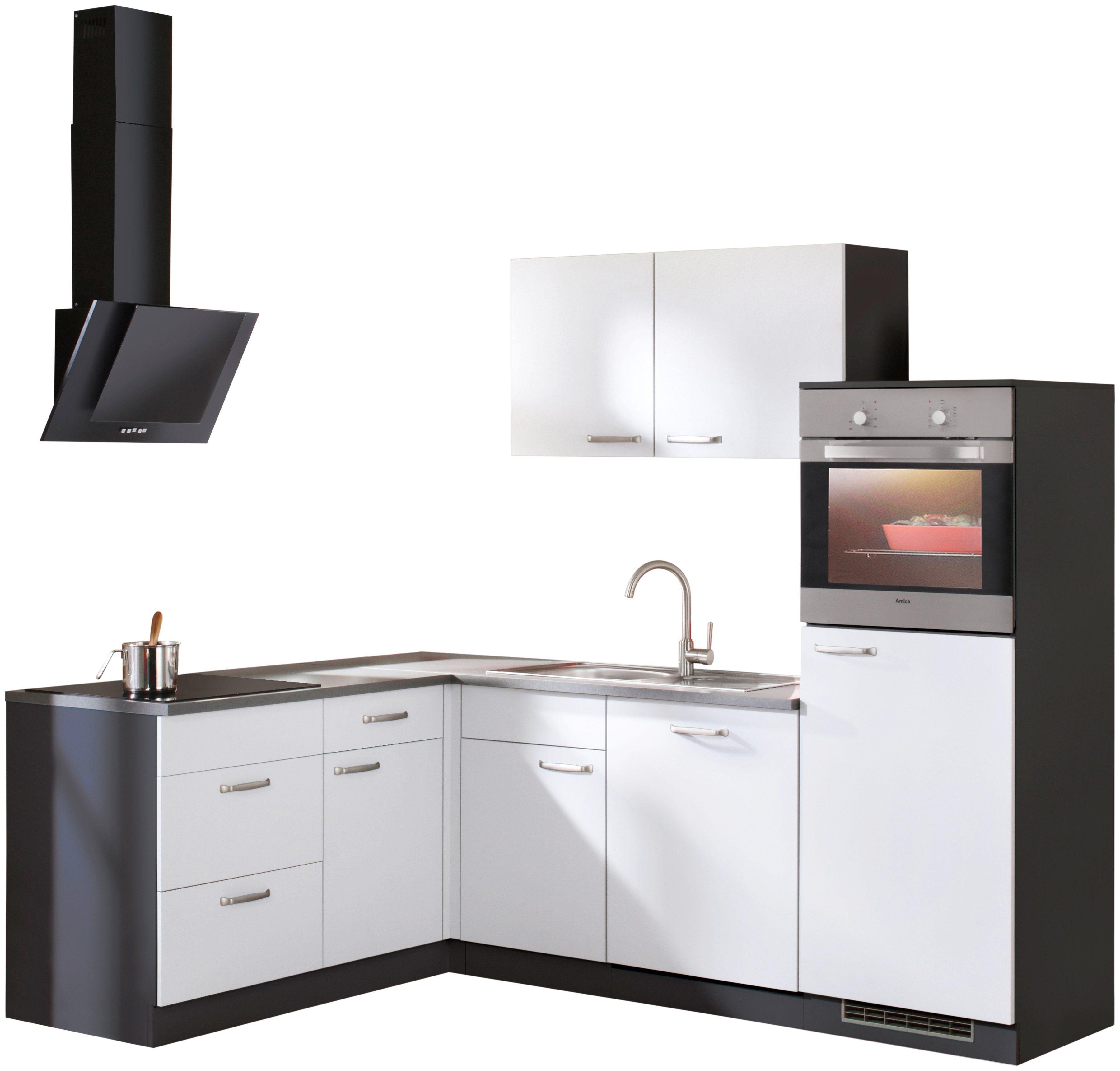 wiho Küchen Winkelküche Michigan mit E-Geräten 230 x 170 cm