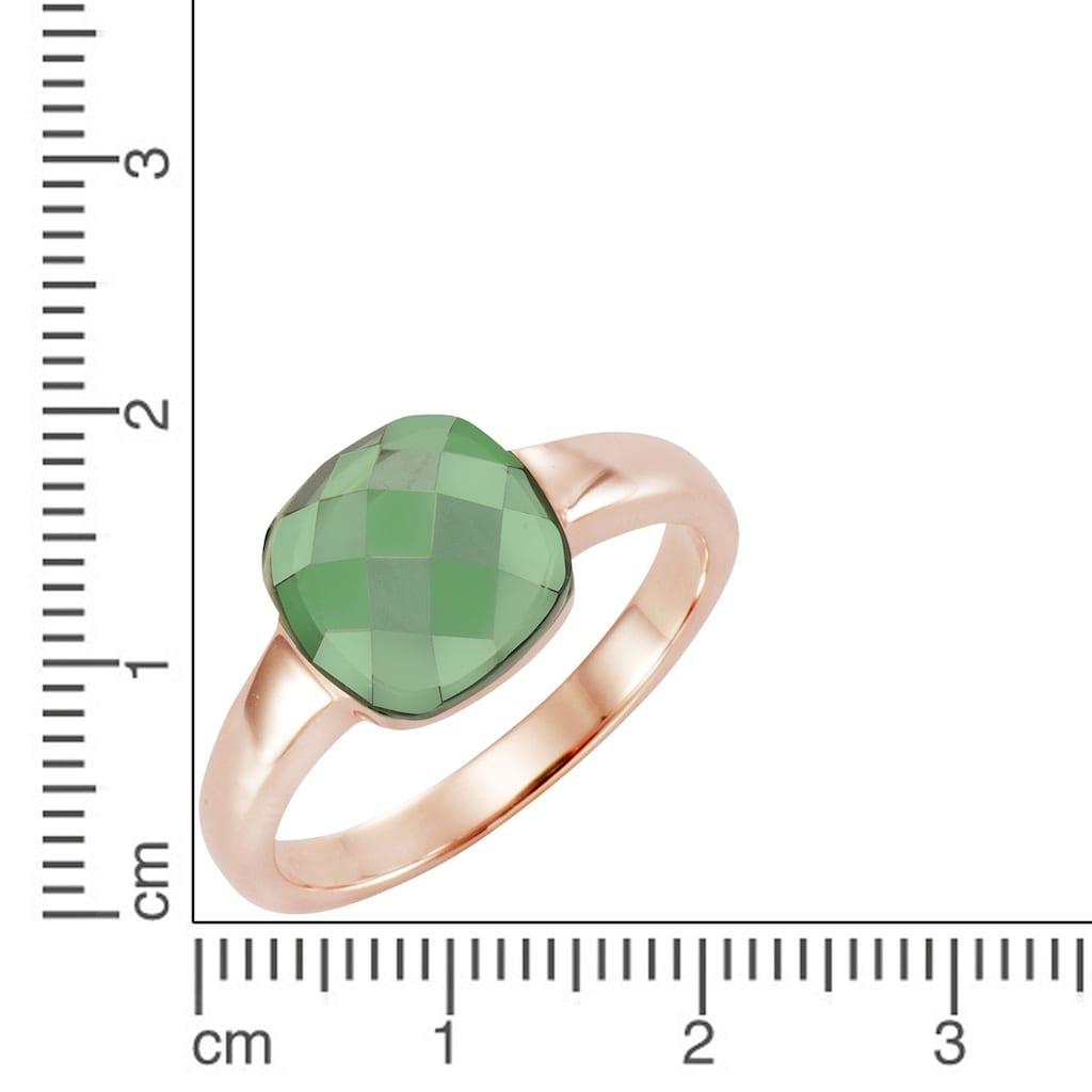 Jamelli Fingerring »925/- Sterling Silber Quarz (beh.)«, Ring