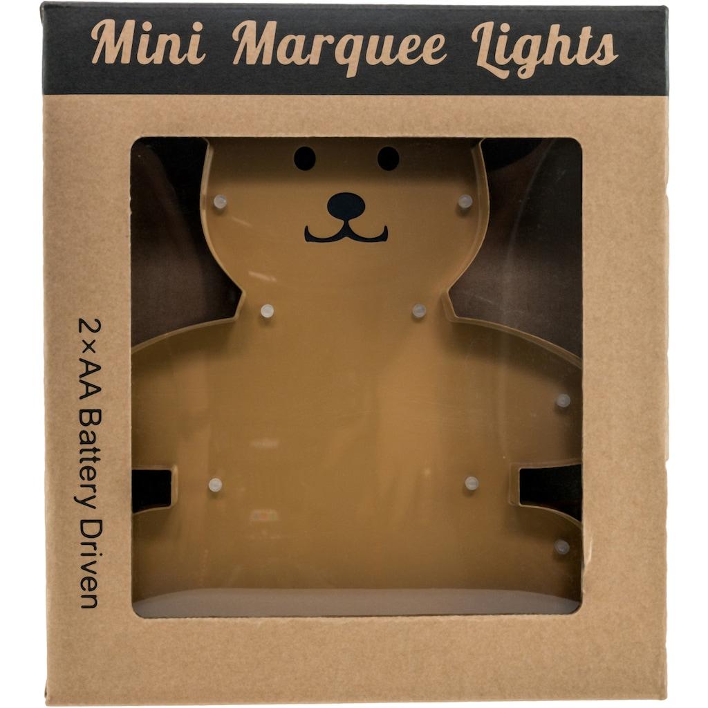 MARQUEE LIGHTS LED Dekolicht »Teddy«, 1 St., Warmweiß, Wandlampe, Tischlampe Teddy mit 18 festverbauten LEDs - 20cm Breit und 23cm hoch