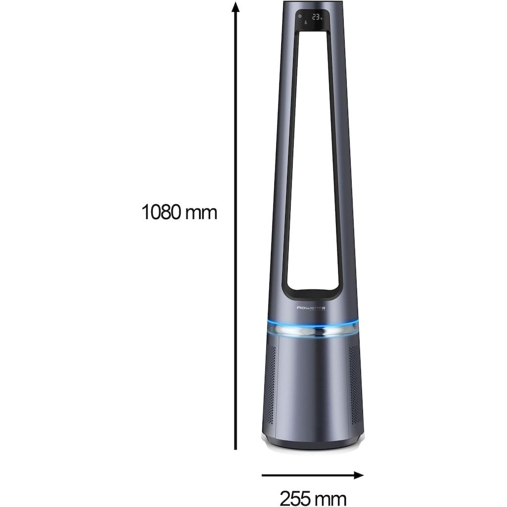 Rowenta Turmventilator »Eclipse QU5030«, 2 in 1 Rotorloser Luftreinigungsventilator; Luftreiniger & Turmventilator; Geräuscharm; Oszillierender Ventilator; 12 Geschwindigkeiten