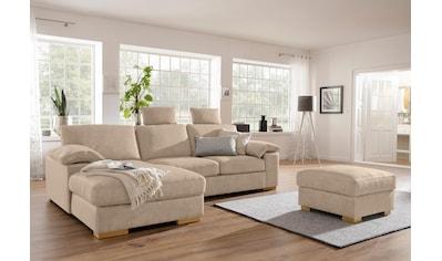 Home affaire Ecksofa »Ventura«, wahlweise mit Bettfunktion und Bettfunktion/Bettkasten kaufen