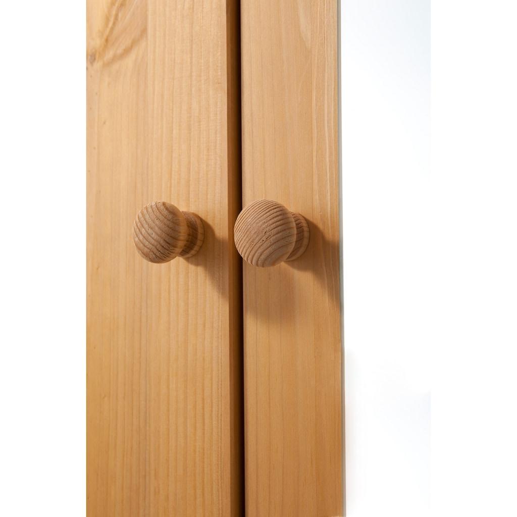 Home affaire Garderobenschrank »Bertram«, aus schönem massivem Kiefernholz, mit einer Spiegeltür, Höhe 170 cm