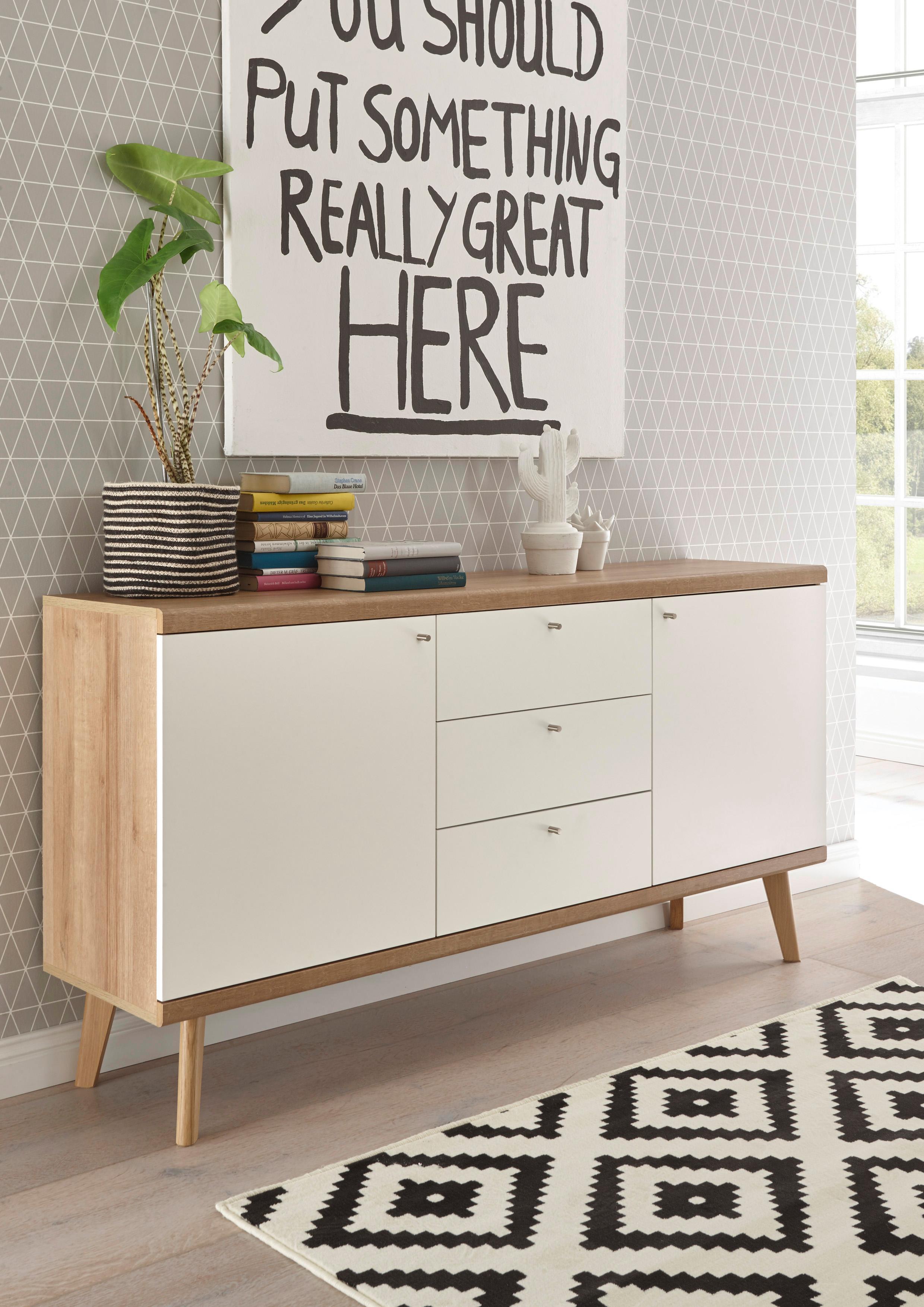 andas Sideboard Merle im skandinavischen Design Breite 160 cm