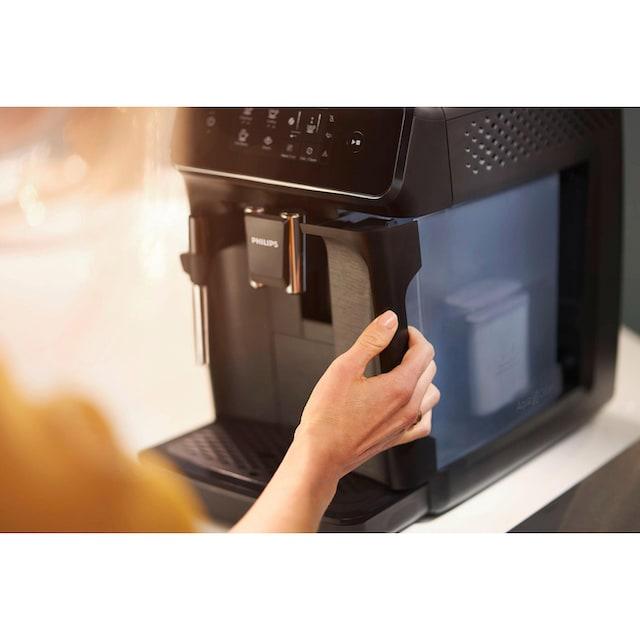 Philips Kaffeevollautomat 2200 Serie EP2221/40 Pannarello, klavierlackschwarz, 1,8l Tank, Scheibenmahlwerk