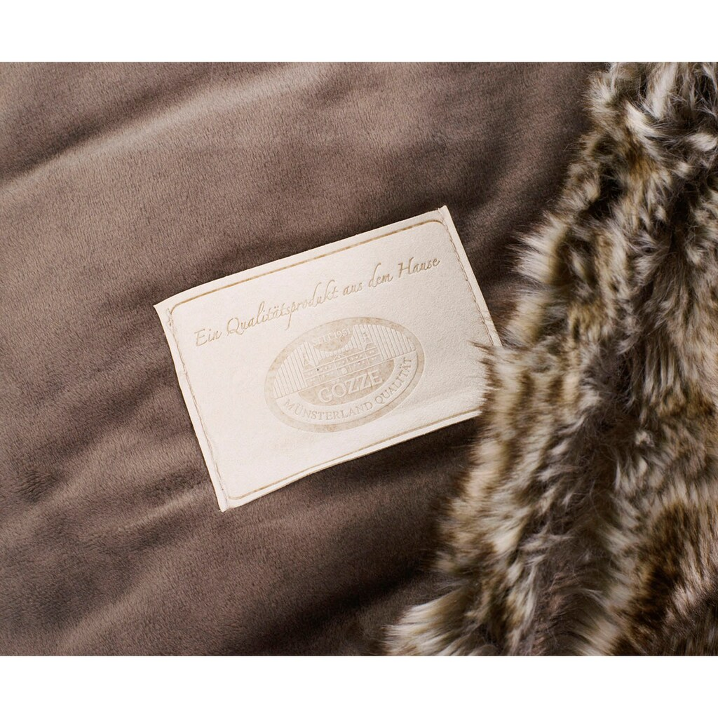 Gözze Wohndecke »Wolf Felloptik«, kuschelweich