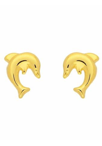 Adelia´s Paar Ohrstecker »333 Gold Ohrringe / Ohrstecker Delphin«, Goldschmuck für Damen kaufen